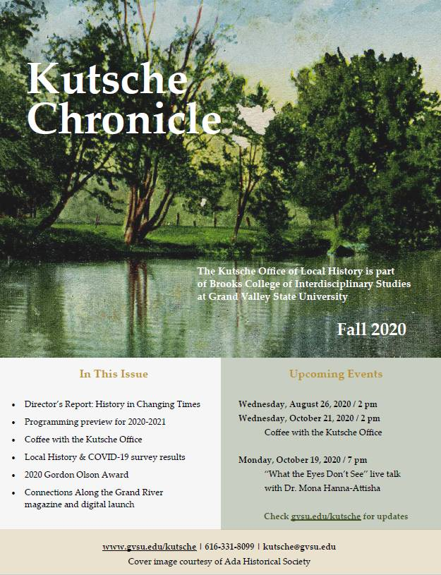 Fall 2020 Kutsche Chronicle cover